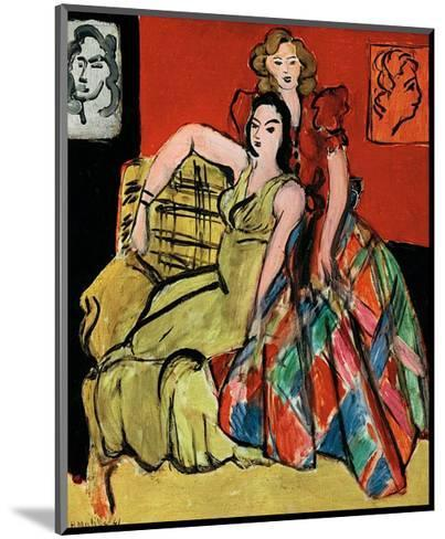 Two Young Women, the Yellow Dress and the Scottish Dress, c.1941-Henri Matisse-Mounted Art Print