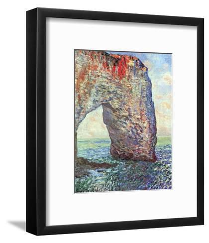 The Manneporte near Etretat, c.1886-Claude Monet-Framed Art Print