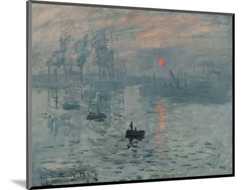 Impression, Sunrise-Claude Monet-Mounted Art Print