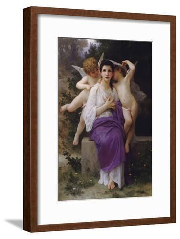 L'Eveil du Coeur-William Adolphe Bouguereau-Framed Art Print