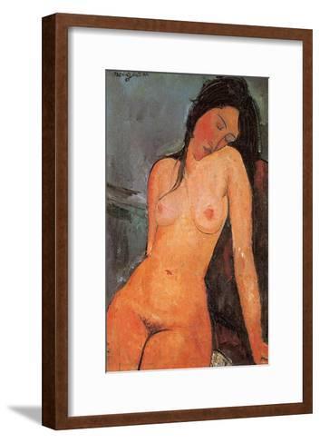 Seated Nude, c.1917-Amedeo Modigliani-Framed Art Print
