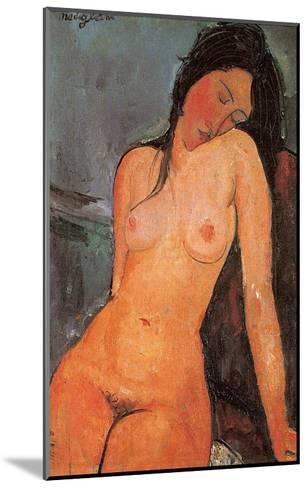 Seated Nude, c.1917-Amedeo Modigliani-Mounted Art Print