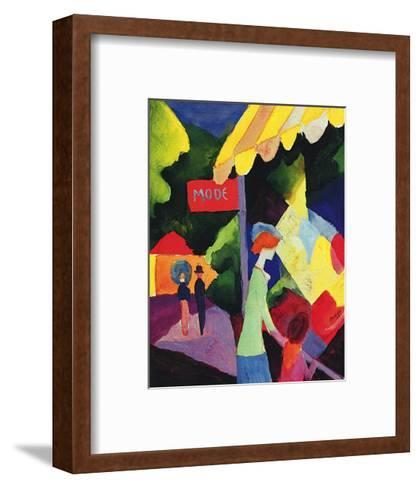 Fashion Store Window-Auguste Macke-Framed Art Print