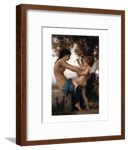 Girl Defending Herself Against Love-William Adolphe Bouguereau-Framed Art Print