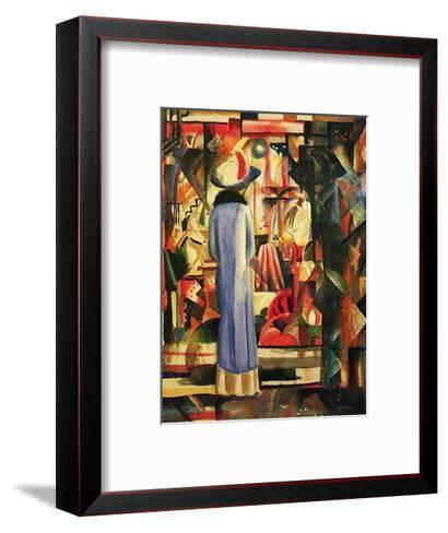 Large Bright Showcase-Auguste Macke-Framed Art Print