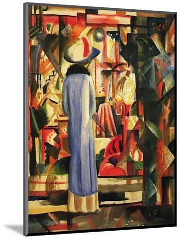 Large Bright Showcase-Auguste Macke-Mounted Art Print