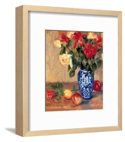 Roses in a Mexican Vase-B^ Oliver-Framed Art Print