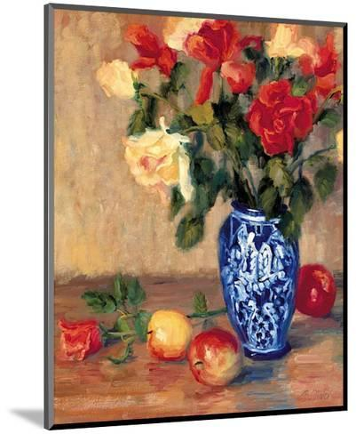 Roses in a Mexican Vase-B^ Oliver-Mounted Art Print