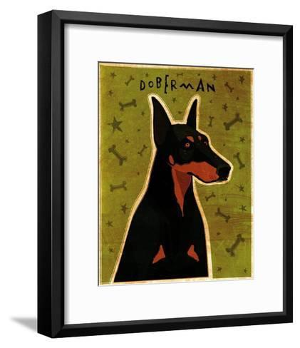Doberman-John Golden-Framed Art Print