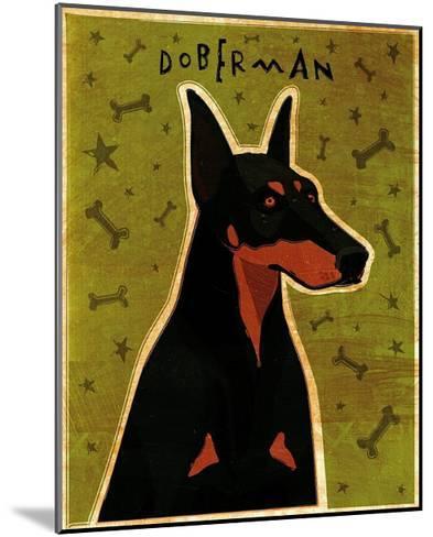Doberman-John Golden-Mounted Art Print