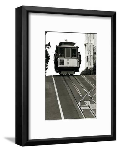 Cable Car Breaking the Crest-Christian Peacock-Framed Art Print