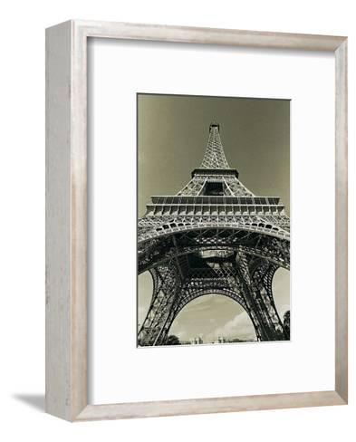 Eiffel Tower Looking Up-Christian Peacock-Framed Art Print
