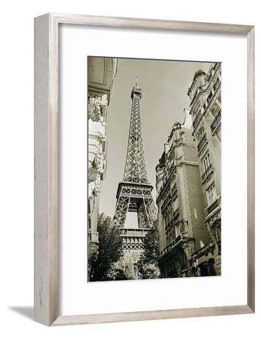 Eiffel Tower Street View, no. 1-Christian Peacock-Framed Art Print