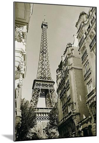 Eiffel Tower Street View, no. 1-Christian Peacock-Mounted Art Print