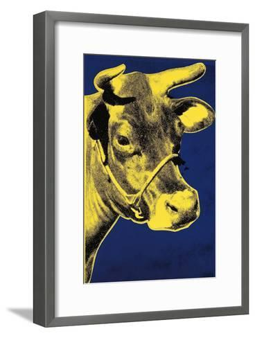 Cow, c.1971 (Blue and Yellow)-Andy Warhol-Framed Art Print