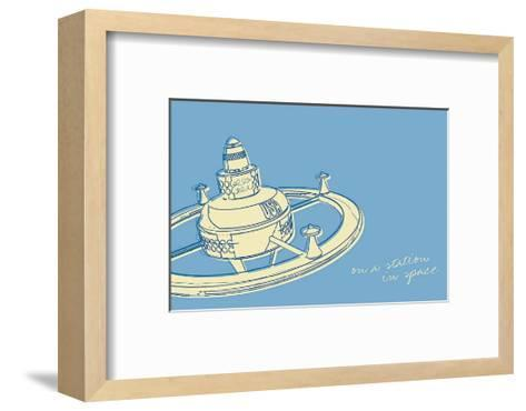 Lunastrella Space Station-John Golden-Framed Art Print