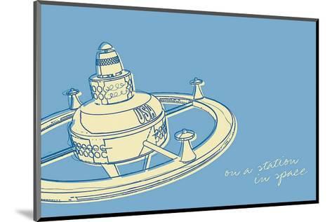Lunastrella Space Station-John Golden-Mounted Art Print