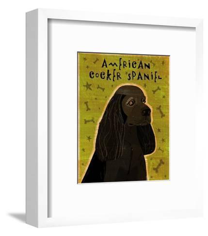 American Cocker Spaniel (black)-John Golden-Framed Art Print
