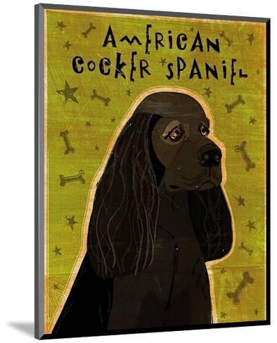American Cocker Spaniel (black)-John Golden-Mounted Art Print