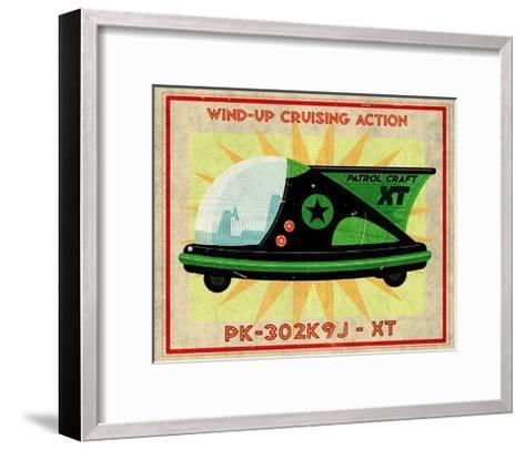 Patrol Craft XT, Box Art Tin Toy-John Golden-Framed Art Print