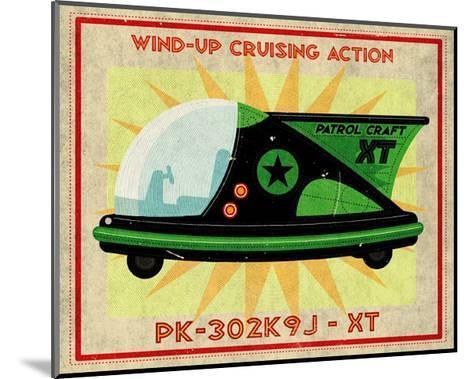 Patrol Craft XT, Box Art Tin Toy-John Golden-Mounted Art Print