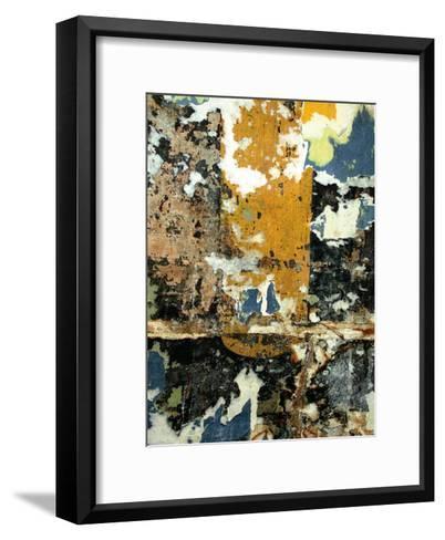Black and Gold Layers-Jenny Kraft-Framed Art Print