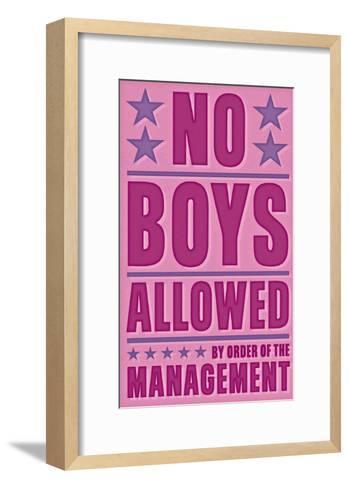 No Boys Allowed-John Golden-Framed Art Print