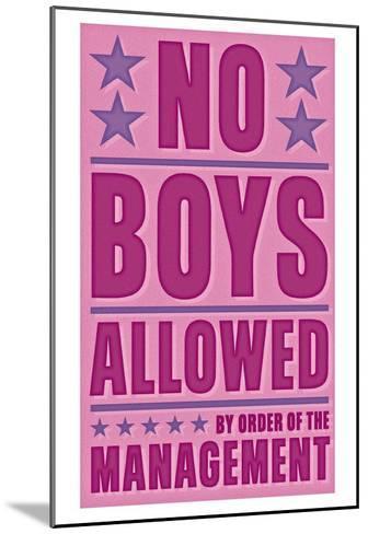 No Boys Allowed-John Golden-Mounted Art Print