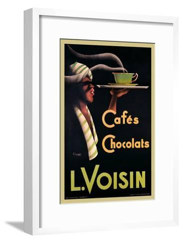 L. Voisin Cafes and Chocolats, 1935-Noel Saunier-Framed Art Print
