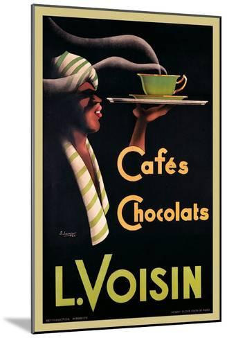 L. Voisin Cafes and Chocolats, 1935-Noel Saunier-Mounted Art Print