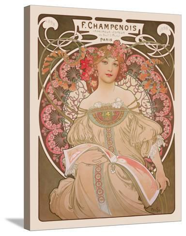 Reverie, c.1897-Alphonse Mucha-Stretched Canvas Print