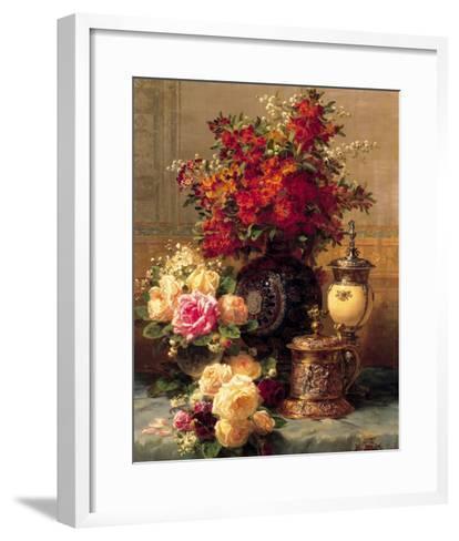 Summer Buffet I-Jean Baptiste Claude Robie-Framed Art Print