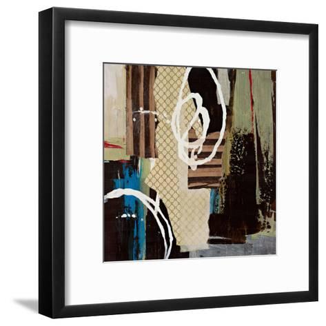 Abstract Collage IV-Bridges-Framed Art Print