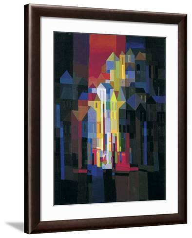 Town by Night-Ton Schulten-Framed Art Print