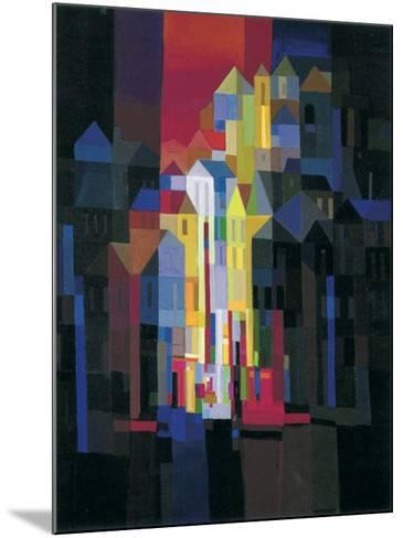 Town by Night-Ton Schulten-Mounted Art Print
