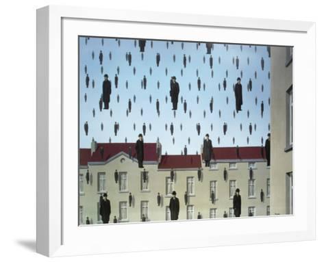 Golconde-Rene Magritte-Framed Art Print