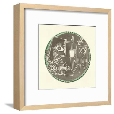 Jacqueline au Chevalet-Pablo Picasso-Framed Art Print