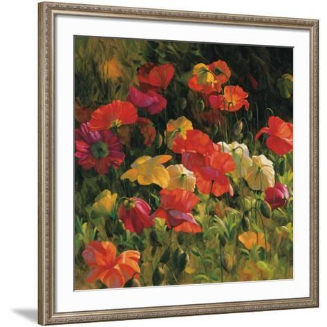 Iceland Poppies-Leon Roulette-Framed Art Print
