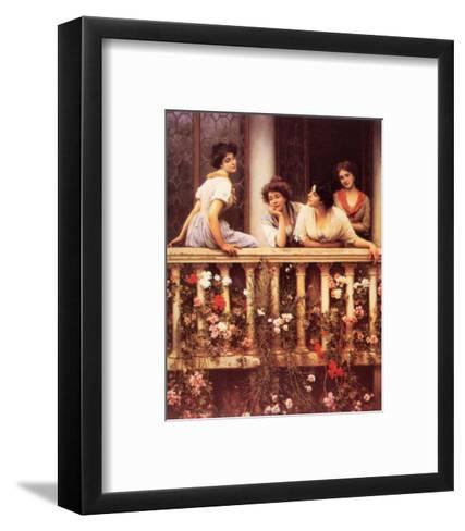 The Balcony-Eugene de Blaas-Framed Art Print