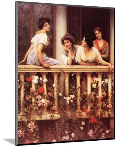 The Balcony-Eugene de Blaas-Mounted Art Print