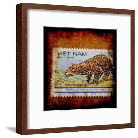 Panthera Stamp-Jean-Fran?ois Dupuis-Framed Art Print