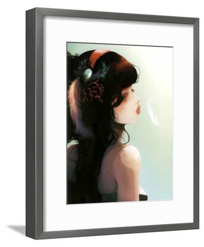 La Cantatrice En Grève-Ludovic Jacqz-Framed Art Print