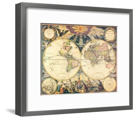 Orbis Terrarum Nova I-Pieter Goos-Framed Art Print