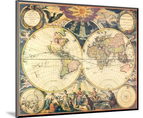 Orbis Terrarum Nova I-Pieter Goos-Mounted Art Print