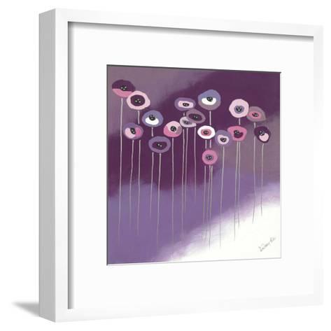 Purple Flowers II-Lindsay Hill-Framed Art Print