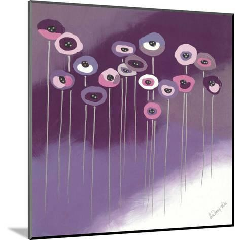 Purple Flowers II-Lindsay Hill-Mounted Art Print