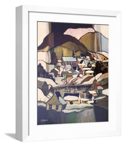 Ces Jeux Sur Glace-J^G^ Desrosiers-Framed Art Print