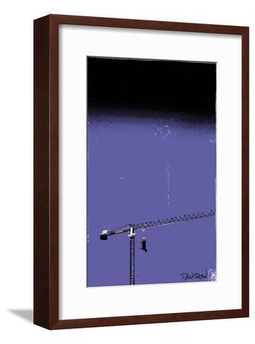 How High Is Your Cow? (Blue)-Pascal Normand-Framed Art Print