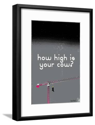 How High Is Your Cow? (Grey)-Pascal Normand-Framed Art Print