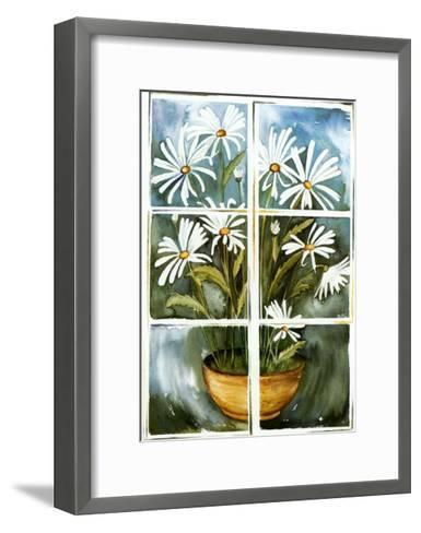 Flowers at the Window II-P. Sonja-Framed Art Print
